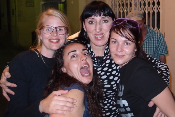 Rossy de Palma afilm students