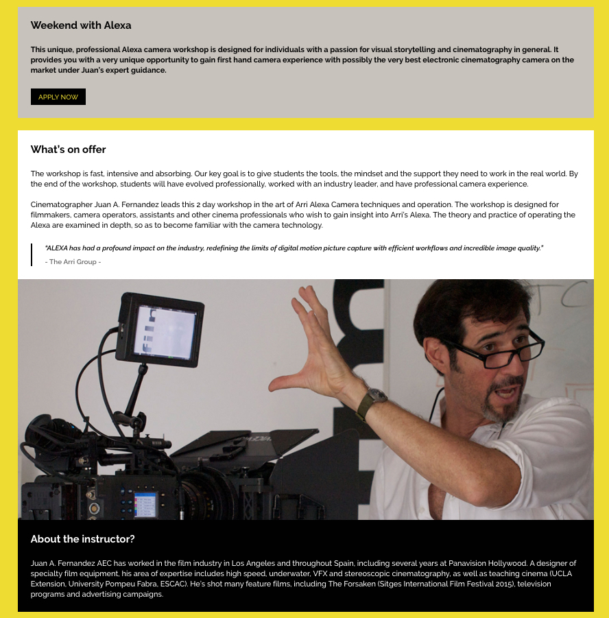 Afilm summer film workshops| Afilm International Film Workshops